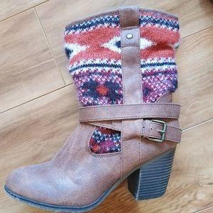 Sweater Heel Boots